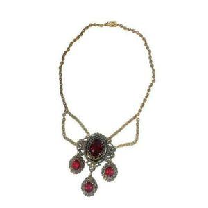 Antique vampire -esq stunning red gothic necklace.